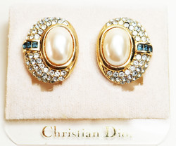 Dior Earrings Pearl & Sapphires