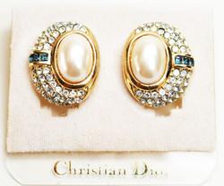 Dior Earrings Pearl & Sapphires