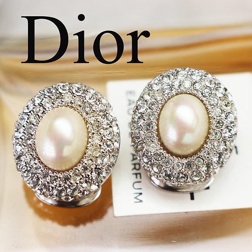 ⚜️ Vintage CHRISTIAN DIOR© Pearl & Crystal Earrings