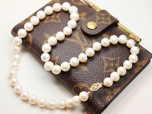 ELEGANT WHITE PEARL NECKLACE ~ 14K Gold Clasp and Genuine 8mm AA+ Pearls
