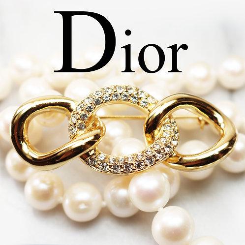 ⚜️ Vintage Christian Dior Swarovski Crystal Brooch