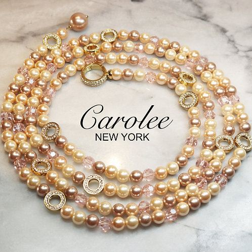 EXQUISITE Carolee Simulated Pearl & Crystal Lariat -