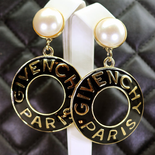 ⚜️ Vintage GIVENCHY PARIS Pearl Earrings