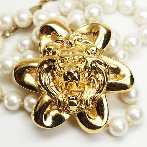 Spectacular Anne Klein French Lion's Head Brooch ~ Lion's Head Collection