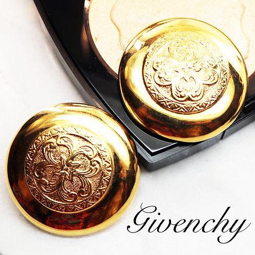 ⚜️ Vintage GIVENCHY Elegant Polished Gold Earrings