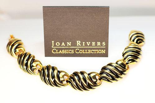 VINTAGE JOAN RIVERS Bracelet *signed* Classics Collection Gold Plating
