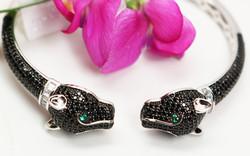 Black Panther Silver Bracelet