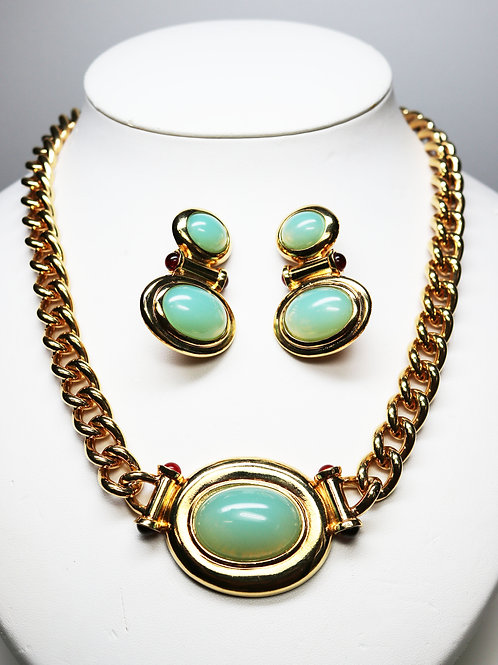 "VINTAGE 1990s ELIZABETH TAYLOR ""Taylored Style Collection"" *signed* Jewelry Set"