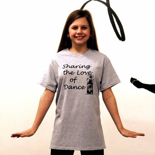 Sharing the Love of Dance T-Shirts Youth Small, Med, Large
