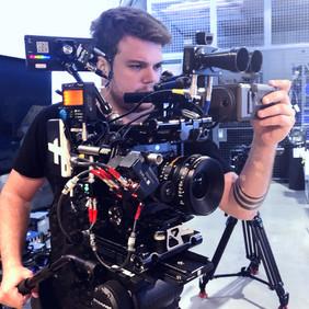 Max Gleiser on set