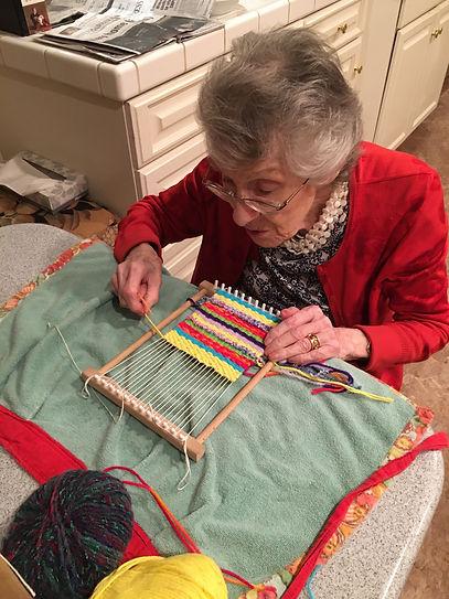 Rob Mom weaving.JPG