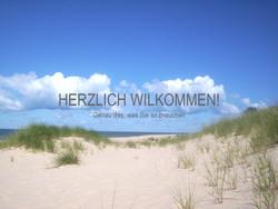 Beach welkom banner duits