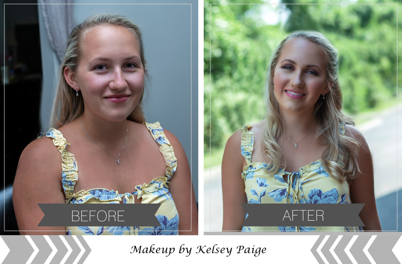 makeup before and after