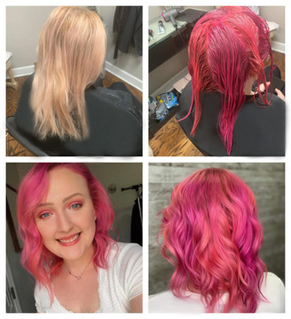 pink sunset Hair Color