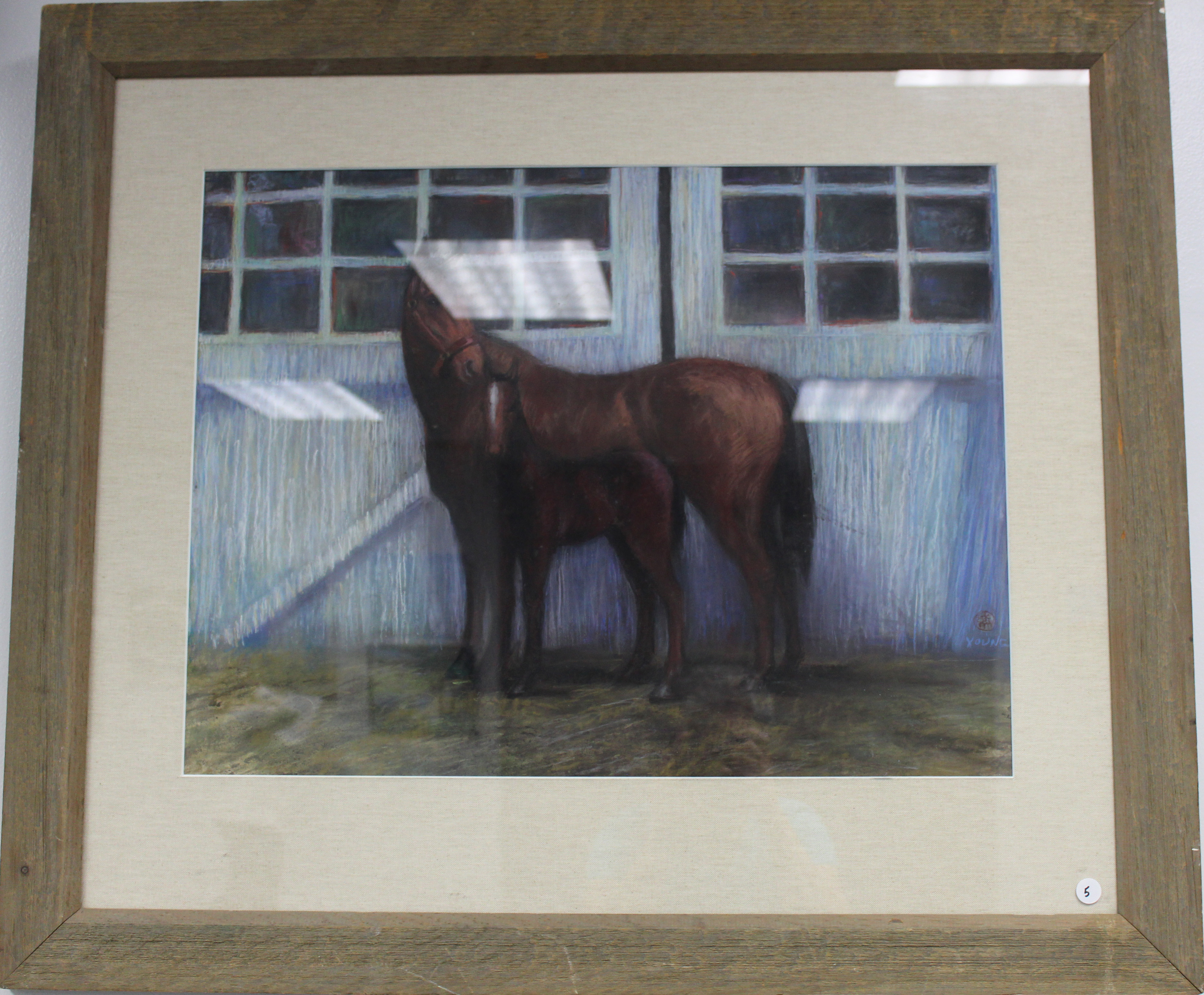 Young: Mare & Colt (pastel)