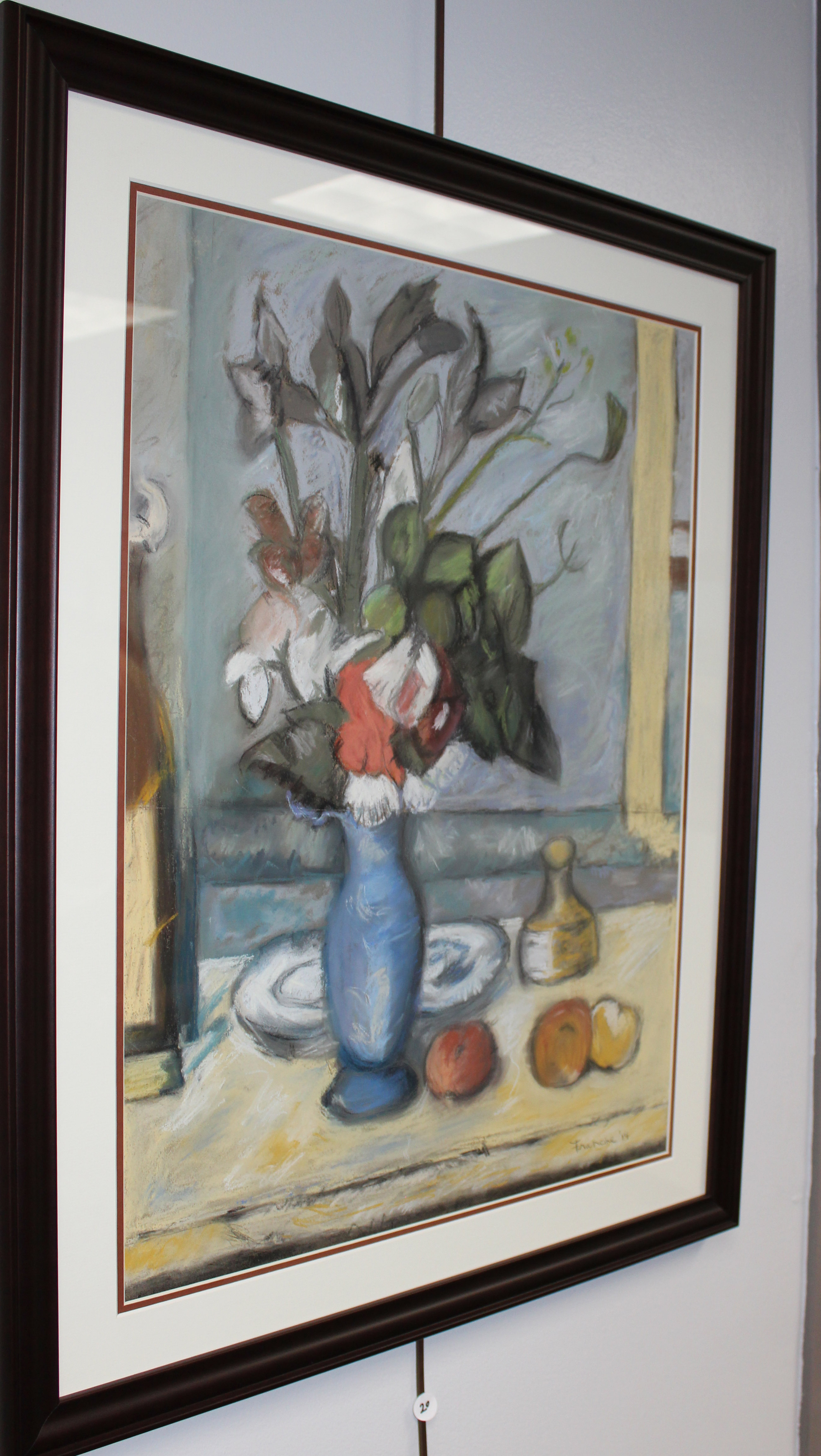 Farber: After Cezanne (pastel)