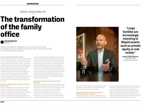 Serge Krancenblum (LAFO): the transformation of the family office