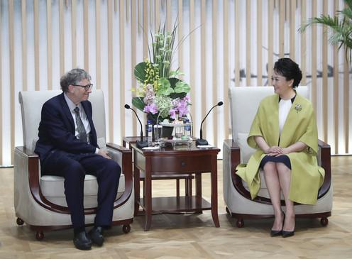 Peng Liyuan & Bill Gates