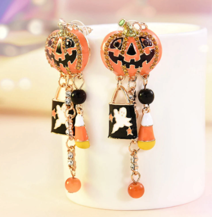 Cute Halloween Pumpkin Earrings