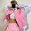 Thumbnail: Pink Baseball-Style Jacket