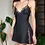 Thumbnail: Black Slip Dress With Lace Detailing