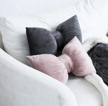 Modern Velvet Bow Pillows