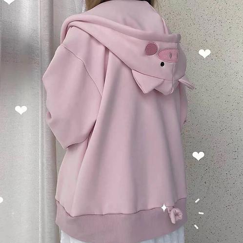 Pink Piggy Hoodie Jacket
