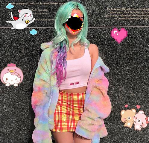 Fluffy Rainbow Jacket