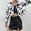 Thumbnail: Cropped Cow Print Jacket