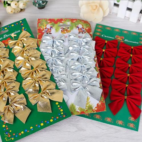 12PCS Christmas Bow Decorations