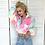 Thumbnail: Fluffy Cropped Rainbow Jacket