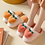 Thumbnail: Fuzzy Peach Slippers