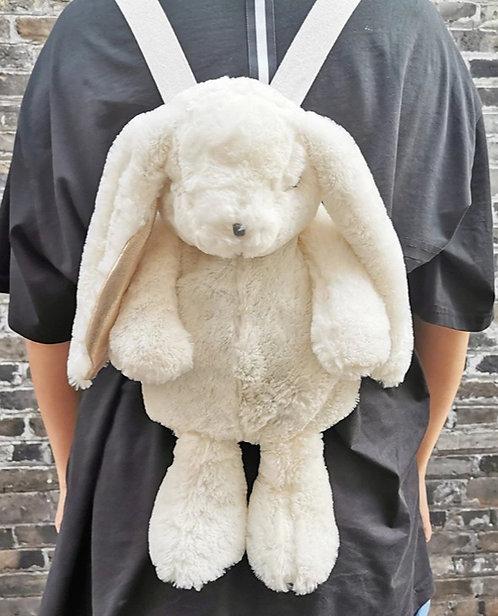 White Fluffy Rabbit Backpack