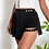 Thumbnail: Black Cut-Out Pleated Skirt