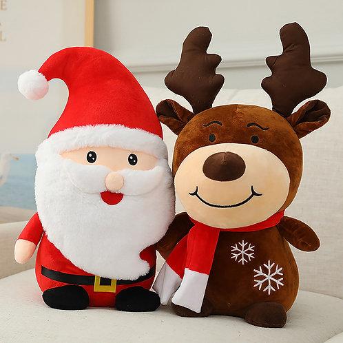 Santa & Reindeer Plushie