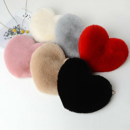 Fluffy Heart Bag