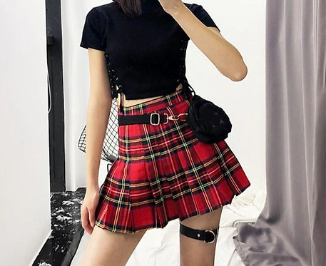 Chequered Pleated Skirts