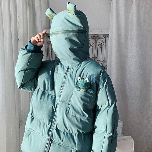 Zip Padded Frog Coat