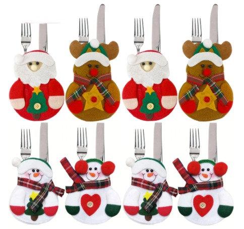 8PCS Christmas Cutlery Covers Set
