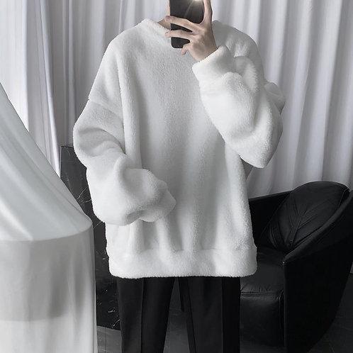 Plain Warm Fleece Jumper