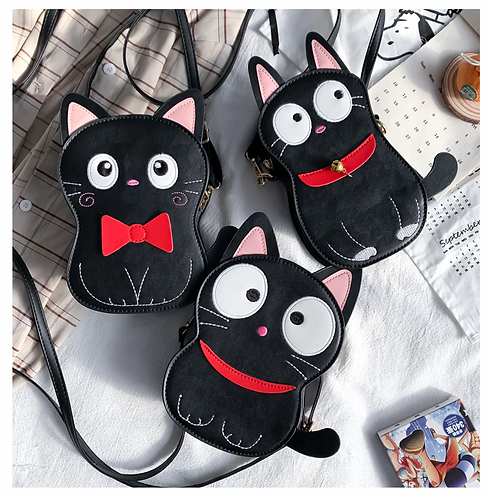 Cute Black Cat Bag