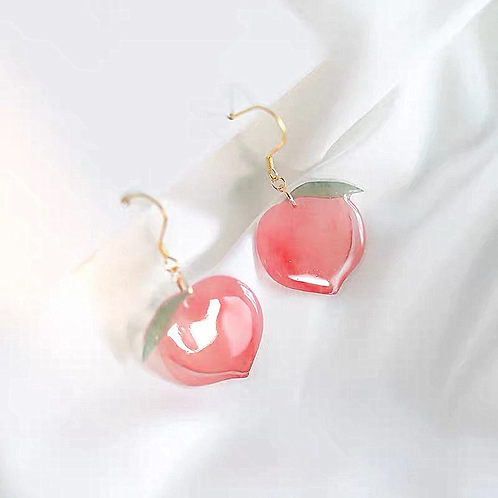 Korean Peach Earrings