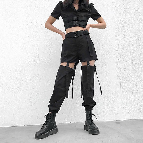 Cut-Out Cargo Pants