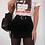 Thumbnail: Black High Waist Skirt with Split Sides