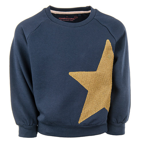 Stones and Bones Sweater Navy Gold Star
