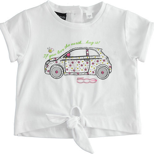 Sarabanda T-Shirt White Fiat 500