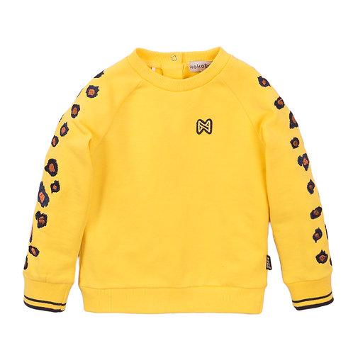 Koko Noko Sweater Yellow Leopard