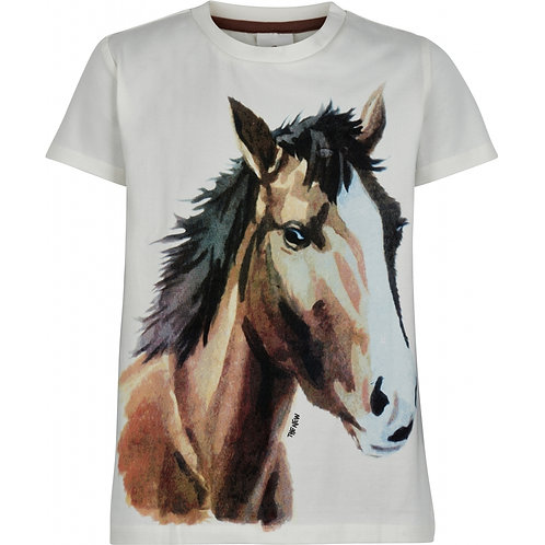 The New Thea T-Shirt Horse White