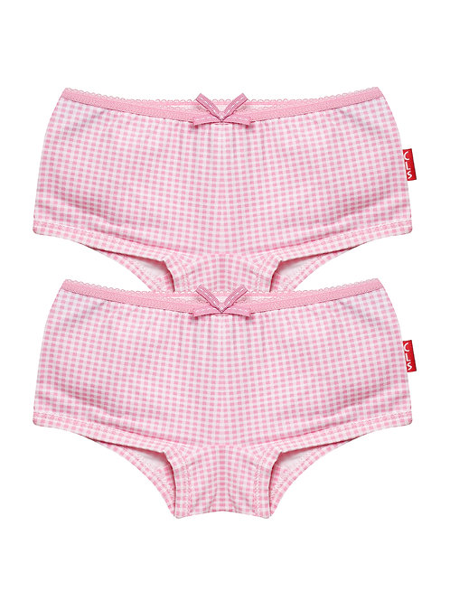 Claesen's Girl 2-pack Hipster Pink Vichy
