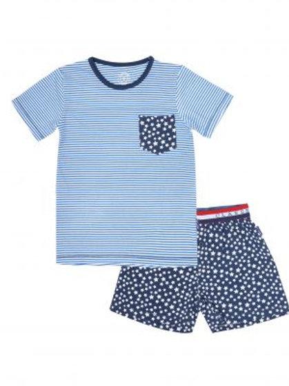 Claesens Pyjama Navy Stars Stripes